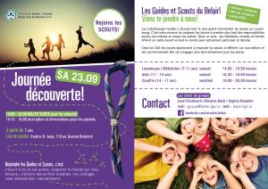 Flyer Rentrée scout 2017